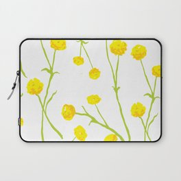 Summer Flower Pattern in Yellow and Green Laptop Sleeve