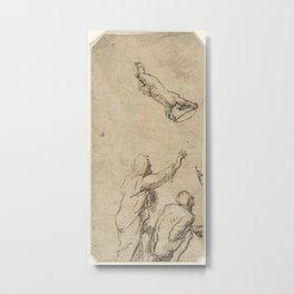 Domenico Gargiulo - Staande man, knielende man en een engel Metal Print