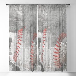 Baseball art vs 13 Sheer Curtain