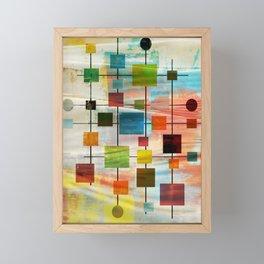 Mid-Century Modern Art 1.3 -  Graffiti Style Framed Mini Art Print