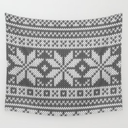 Winter knitted pattern 1 Wall Tapestry
