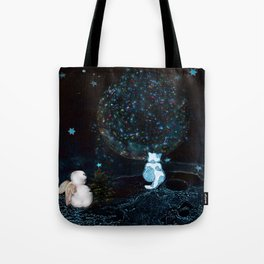 BLUE CHRISTMAS STARGAZERS ~ BACK WHERE MY HEART IS LONGING TO BE Tote Bag