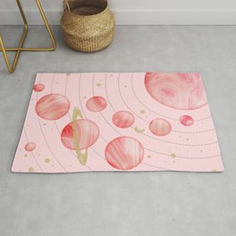 The Pink Solar System Rug