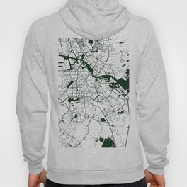 Amsterdam White on Green Street Map Hoody