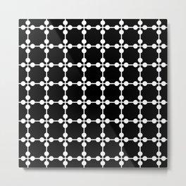 Droplets Pattern - Black & White Metal Print