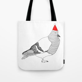 Christmas Pigeon Tote Bag