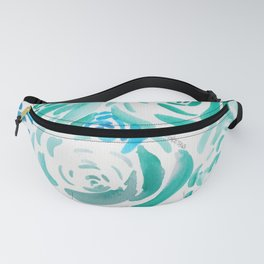 4    |  190413 Flower Abstract Watercolour Painting Fanny Pack