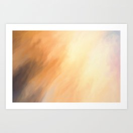 Abstract Beige Tan Shades.   Like painted on canvas. Art Print