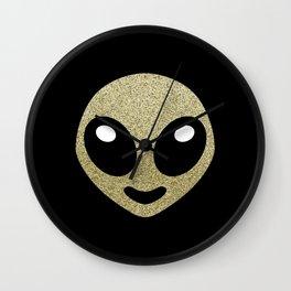 Alien smiley Wall Clock