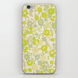 small floral in neon iPhone Skin