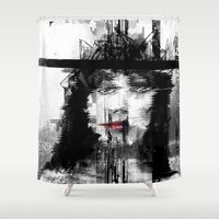 persona Shower Curtains featuring Flashback by PandaGunda