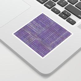 Tribal Ethnic pattern silver on  purple Sticker