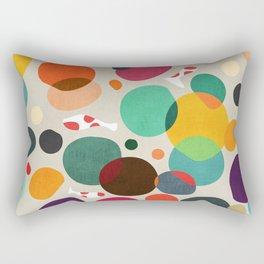 Lotus in koi pond Rectangular Pillow