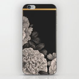 Flowers on a winter night iPhone Skin
