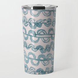 Tapa bands - Blue Travel Mug