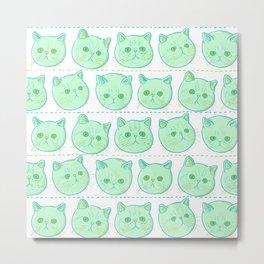 Exotic shorthair cat pattern Metal Print