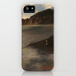 Early Evening With Seagull, Manzanita iPhone Case