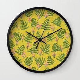 Fern & Heather Wall Clock