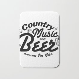 Country Music and Beer Bath Mat
