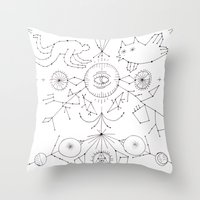 constellations Throw Pillows featuring Constellations by Astro Nascha