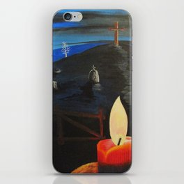 Candle in  Cemetery iPhone Skin
