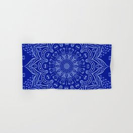 Blue Boho Mandala Hand & Bath Towel