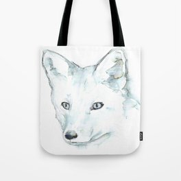 Fox, Watercolor Tote Bag