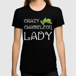 Crazy Chameleon Lady Reptile Animal Lover T-Shirt T-shirt