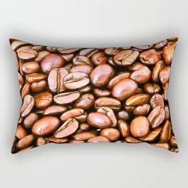 roasted coffee beans texture acrsat Rectangular Pillow