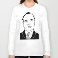 scarface Long Sleeve T-shirts featuring Al 'Scarface' Capone by Danny Abbott