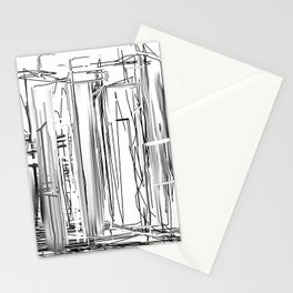 Abstract City Stationery Cards