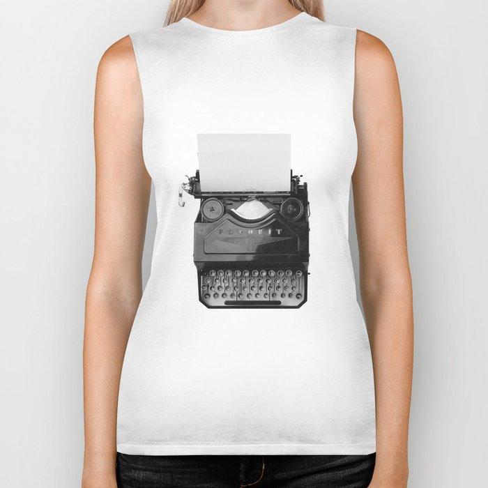 typewriter Biker Tank