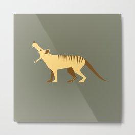 EXTINCT: Thylacine (Tasmanian Tiger) Metal Print