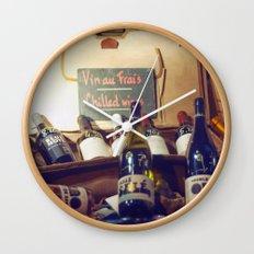 Vin au Frais: Chilled Wine Wall Clock