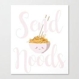 Send Noods Noodles Asian Food Cuisine China Japan Design Canvas Print