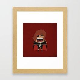 Screaming Captain Harlock Framed Art Print