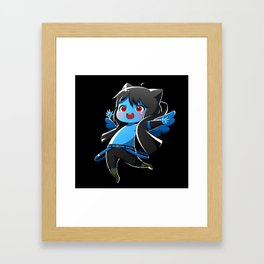 Chibi Luc (Expression 1) w/ Black Background Framed Art Print