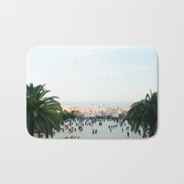 People at Park Güell Bath Mat