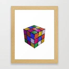 The color cube Framed Art Print