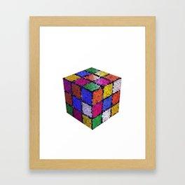 The color cube Framed Art Print