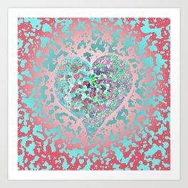 Loving Heart Abstract No. 4 Art Print