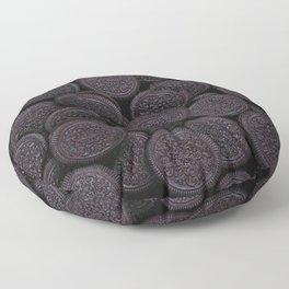 Oreo Cookie Pattern Illustration Floor Pillow