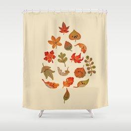 Sad fallen leaves Shower Curtain