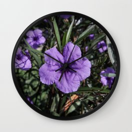 Purple Flower Bloom Wall Clock