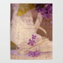 Nostalgic Lilac flower Vintage style Poster