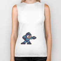 mega man Biker Tanks featuring Mega Man by Alison Hinch