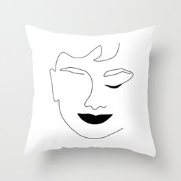 Happy Audrey Throw Pillow