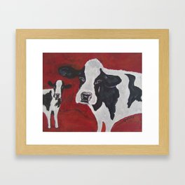 Cowabunga Cow painting Framed Art Print