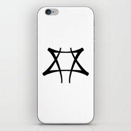 Vance Symbol-Black iPhone Skin