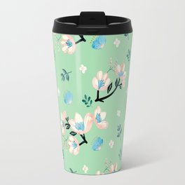 Be who you want to be - flowers and mint Travel Mug